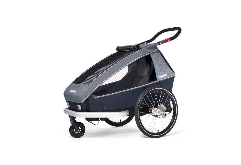 CROOZER KID FOR 1 PLUS Vaaya GRAPHITE BLUE 2020 3v1 odpružený vozík za kolo - 2