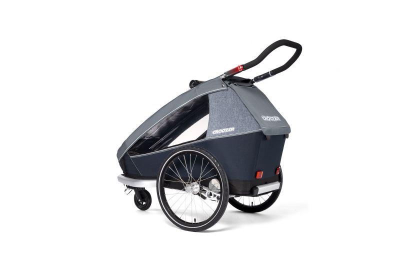CROOZER KID FOR 1 PLUS Vaaya GRAPHITE BLUE 2020 3v1 odpružený vozík za kolo - 4