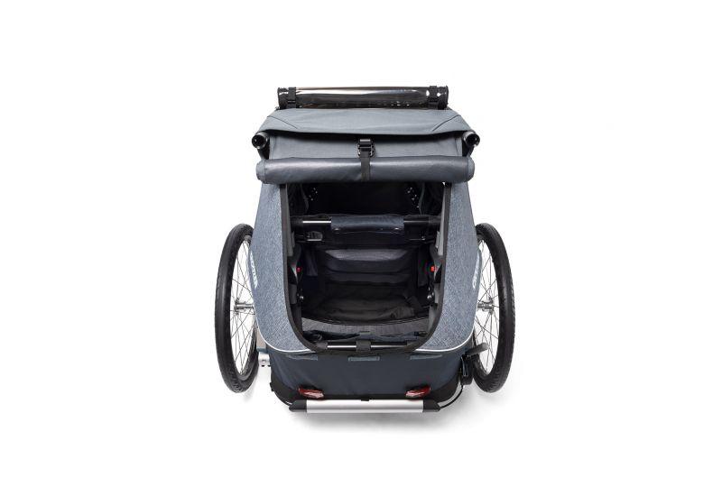 CROOZER KID FOR 1 PLUS Vaaya GRAPHITE BLUE 2020 3v1 odpružený vozík za kolo - 6
