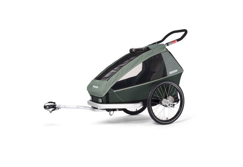 CROOZER KID FOR 1 PLUS Vaaya JUNGLE GREEN 2020 3v1 odpružený vozík za kolo - 1
