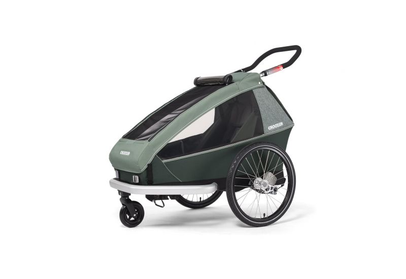 CROOZER KID FOR 1 PLUS Vaaya JUNGLE GREEN 2020 3v1 odpružený vozík za kolo - 2