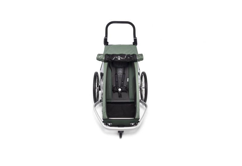 CROOZER KID FOR 1 PLUS Vaaya JUNGLE GREEN 2020 3v1 odpružený vozík za kolo - 3