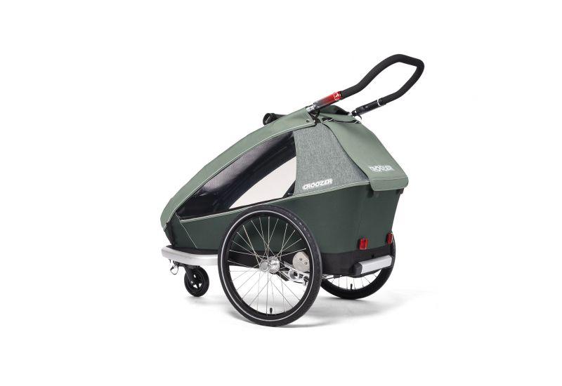 CROOZER KID FOR 1 PLUS Vaaya JUNGLE GREEN 2020 3v1 odpružený vozík za kolo - 4