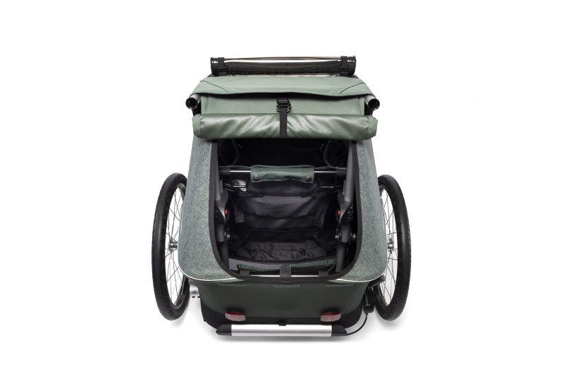 CROOZER KID FOR 1 PLUS Vaaya JUNGLE GREEN 2020 3v1 odpružený vozík za kolo - 5