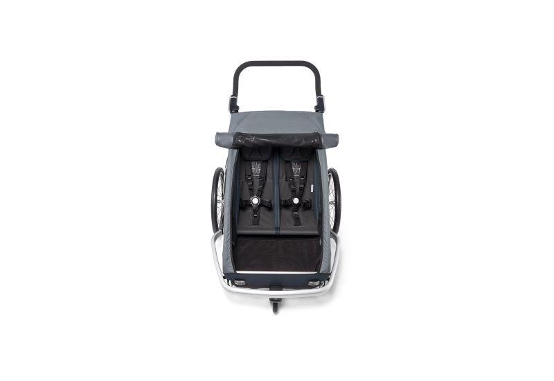 CROOZER KID FOR 2 PLUS Vaaya GRAPHITE BLUE 2020 3v1 odpružený vozík za kolo - 3