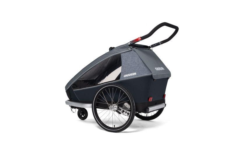 CROOZER KID FOR 2 PLUS Vaaya GRAPHITE BLUE 2020 3v1 odpružený vozík za kolo - 4