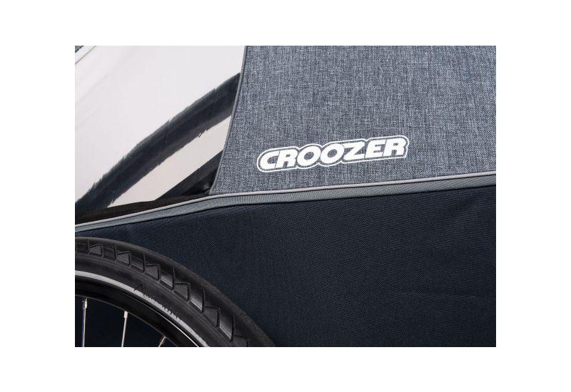CROOZER KID FOR 2 PLUS Vaaya GRAPHITE BLUE 2020 3v1 odpružený vozík za kolo - 8