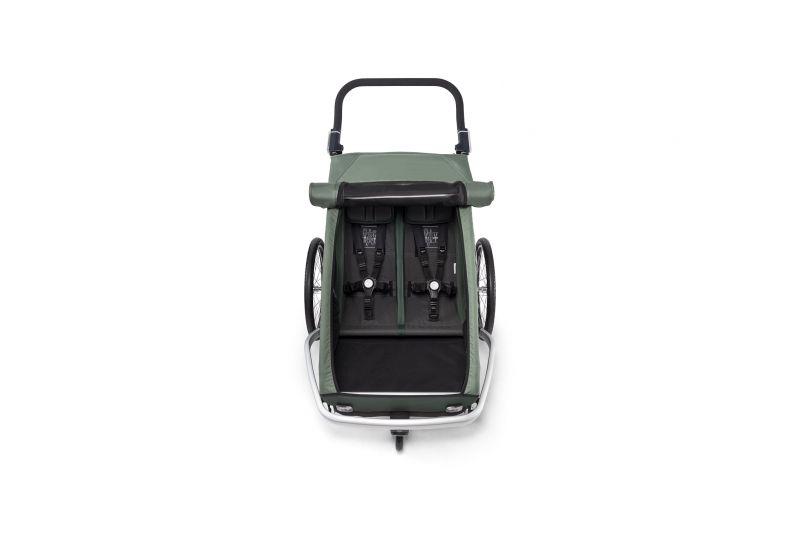 CROOZER KID FOR 2 PLUS Vaaya JUNGLE GREEN 2020 3v1 odpružený vozík za kolo - 3