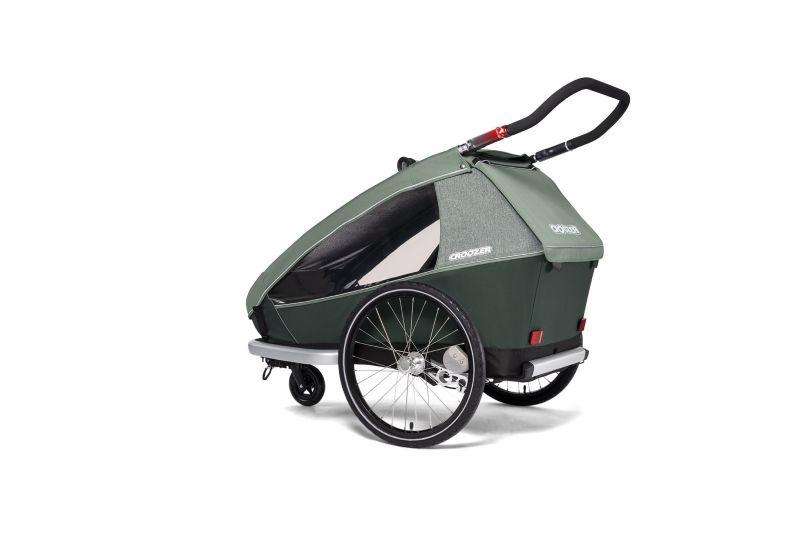 CROOZER KID FOR 2 PLUS Vaaya JUNGLE GREEN 2020 3v1 odpružený vozík za kolo - 4