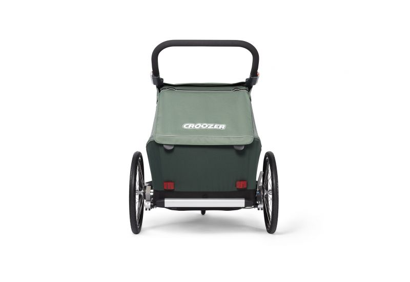 CROOZER KID FOR 2 PLUS Vaaya JUNGLE GREEN 2020 3v1 odpružený vozík za kolo - 5