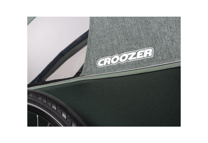 CROOZER KID FOR 2 PLUS Vaaya JUNGLE GREEN 2020 3v1 odpružený vozík za kolo - 9