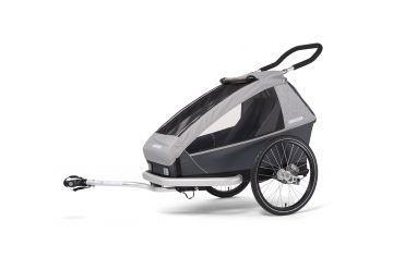 CROOZER KID FOR 1 Keeke STONE GREY 2020 2v1 odpružený vozík za kolo - 1