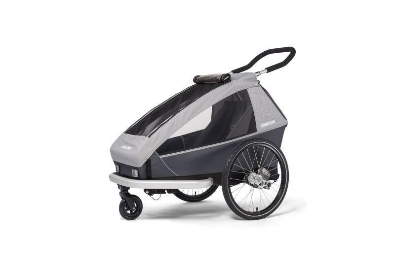 CROOZER KID FOR 1 Keeke STONE GREY 2020 2v1 odpružený vozík za kolo - 2