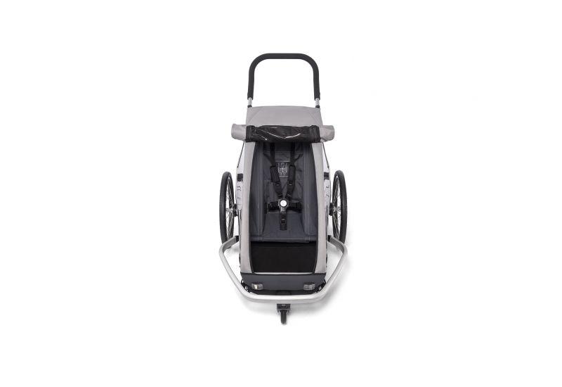 CROOZER KID FOR 1 Keeke STONE GREY 2020 2v1 odpružený vozík za kolo - 3