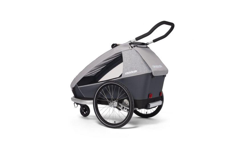 CROOZER KID FOR 1 Keeke STONE GREY 2020 2v1 odpružený vozík za kolo - 4