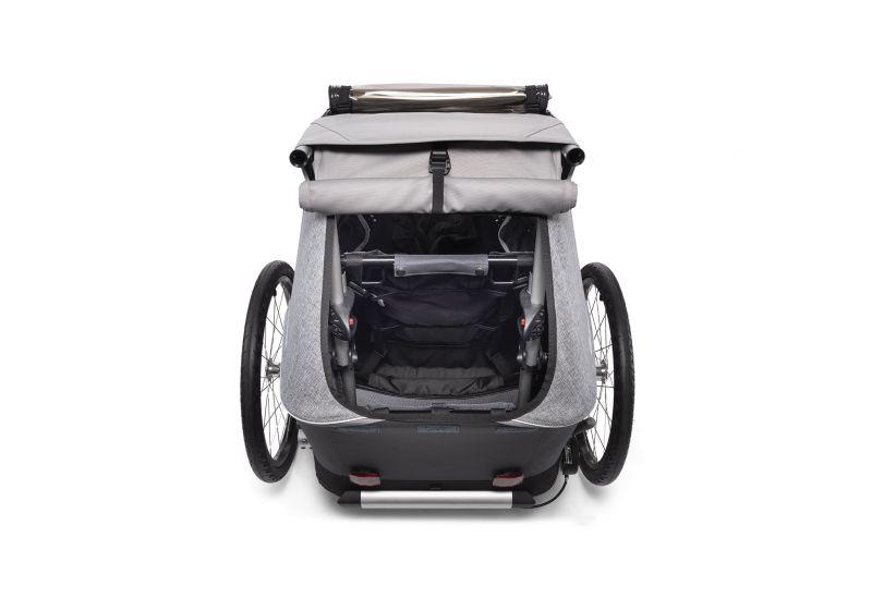 CROOZER KID FOR 1 Keeke STONE GREY 2020 2v1 odpružený vozík za kolo - 6